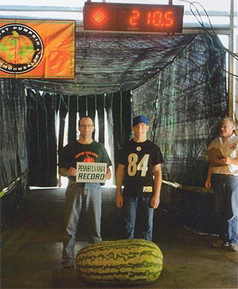 Lee and Derrick Zappa - 1st Place Watermelon (210.5#)