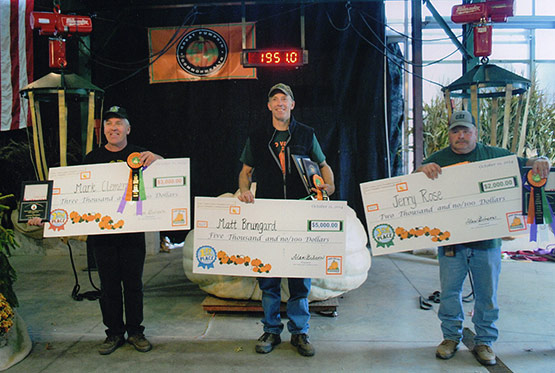First Place: Matt Brungard. Second Place: Mark Clementz. Third Place: Jerry Rose.